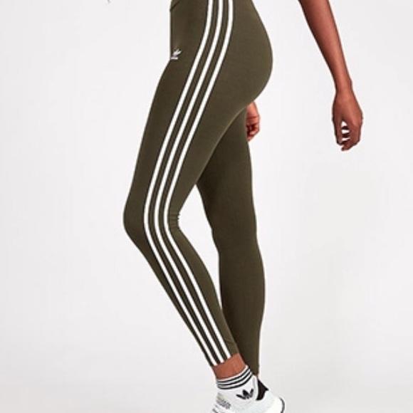 c5c3c0a0024bc adidas Pants | New Arrival Originals Olive Green Tights | Poshmark